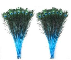 100pcs Blue Wholesale Natural Peacock Tail Feathers About 30 35 inches N1 | eBay
