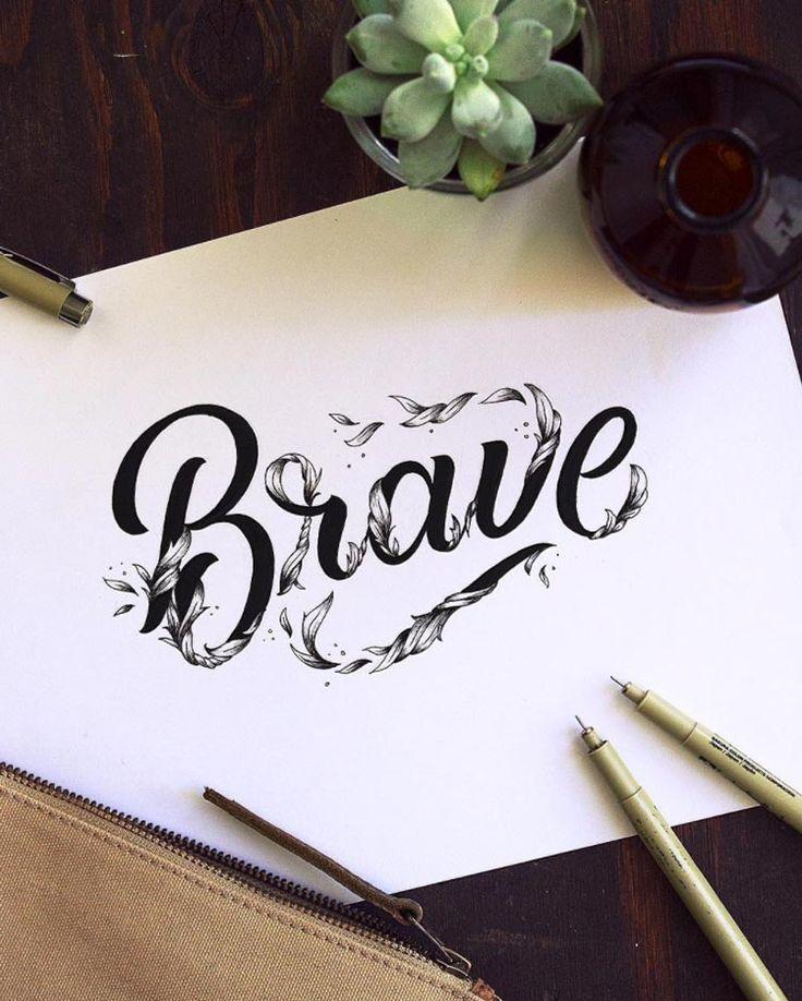 Inspiration hand lettering avec Brianna Aili
