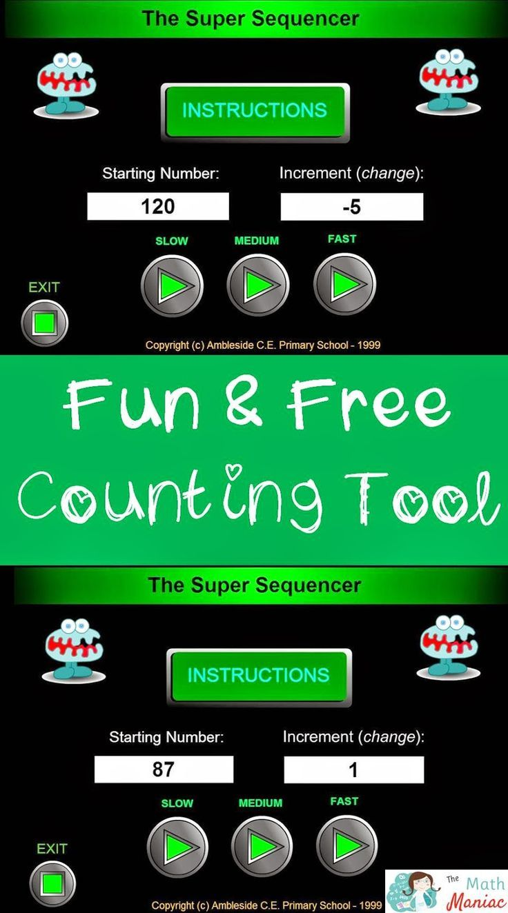 Check out this amazing FREE online counting tool. You set the ...