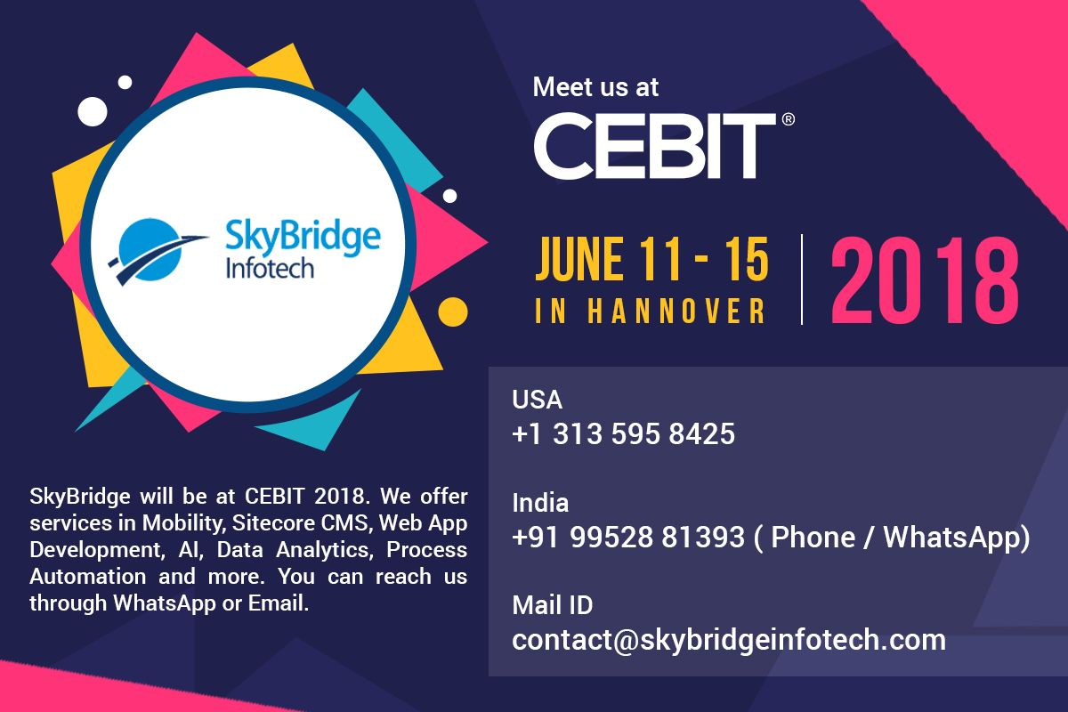 SkyBridge will be at CEBIT 2018  We offer services in Mobility