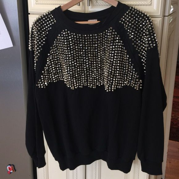Used once heavy stunning H&M sweater This is amazing with heavy metals     Box69A c13 H&M Tops Sweatshirts & Hoodies