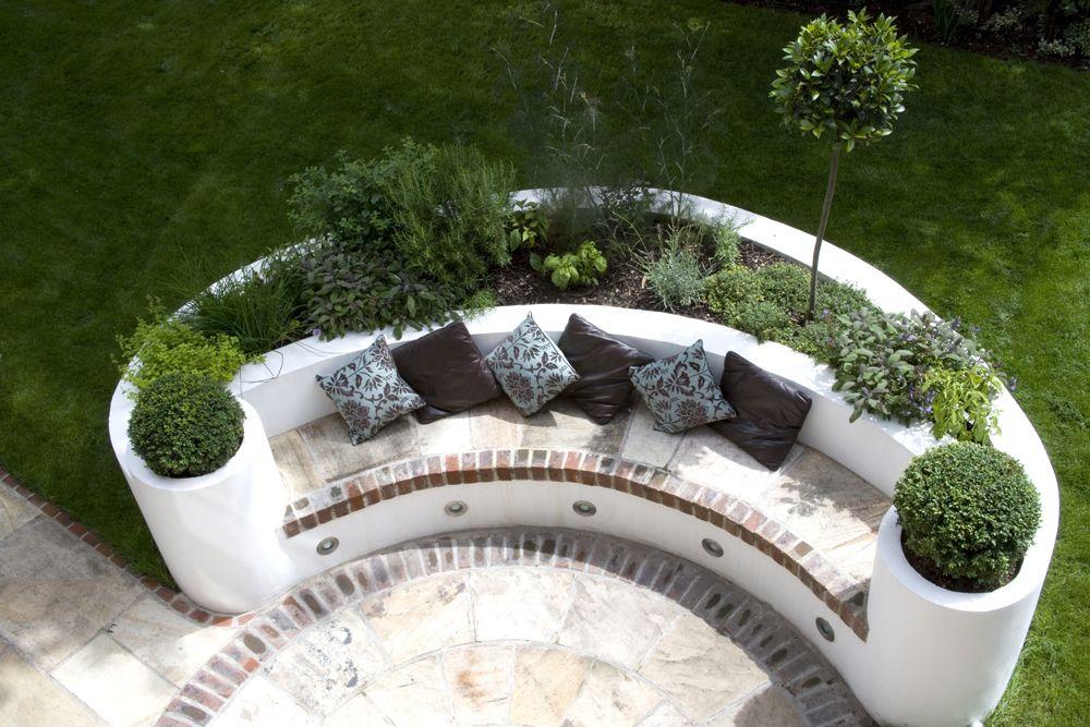 Modern family Garden Design West London   Garden seating ...