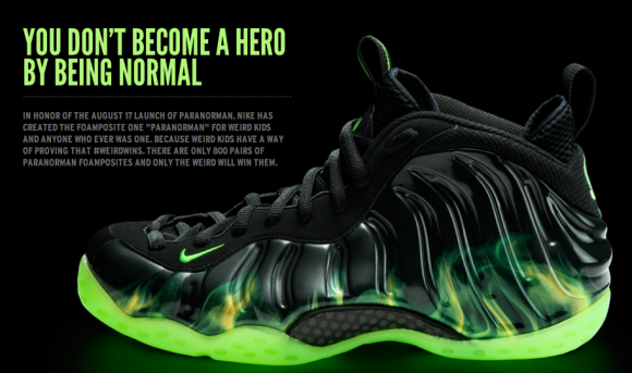 dd81f5778a9 Nike Paranormal Foamposite - only 800 pairs made. Black green flames  basketball sneakers