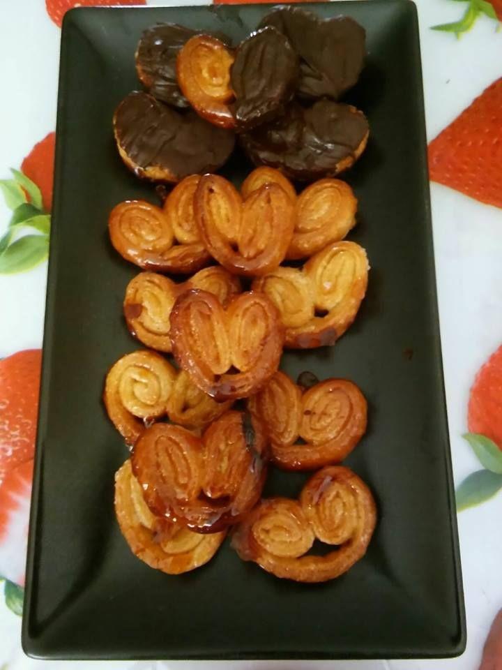 Palmeritas! Receta en la página de Facebook : recetas sin gluten Maitenas
