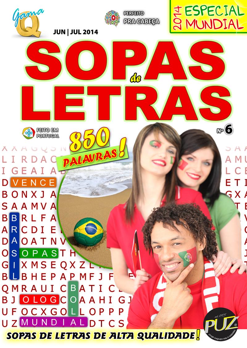 GAMA Q SOPAS DE LETRAS Nº 6 #sopadeletras #mundial2014 #mundial #mundialbrasil #mundialfutebol #copadomundo #sopasdeletras #puz #gamaq