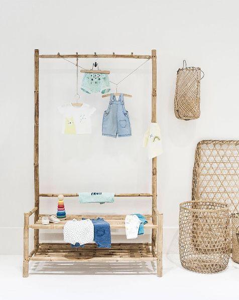 Ideas para ordenación del hogar. Mueble de bambú ideal para pequeños ...