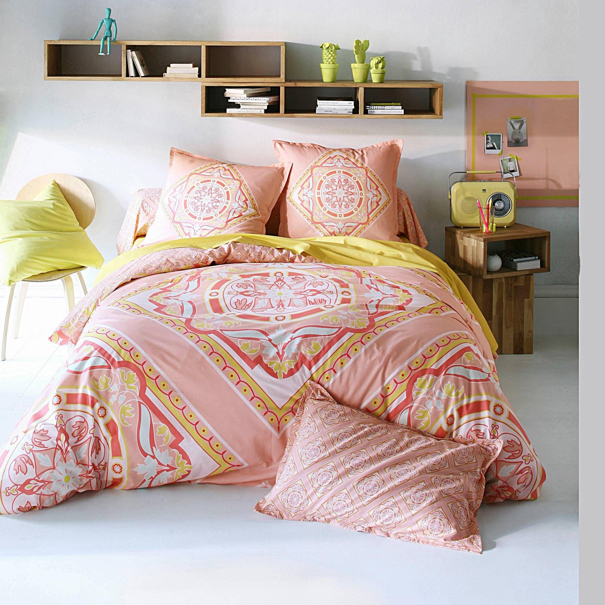 housse de couette imprim e foulard 1 ou 2 personnes coton. Black Bedroom Furniture Sets. Home Design Ideas