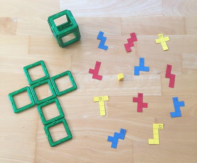 Würfelnetze herausfinden | Pinterest | Mathe, Grundschulen und Klasse