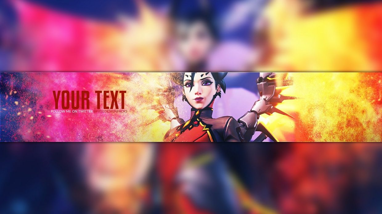 Free Overwatch Youtube Banner Template for Photoshop https://sellfy ...