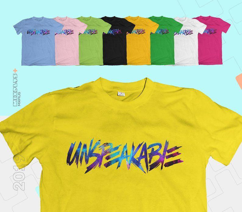 Unspeakable Galaxy Logo T Shirt Youtuber Vlogger Kids Tee
