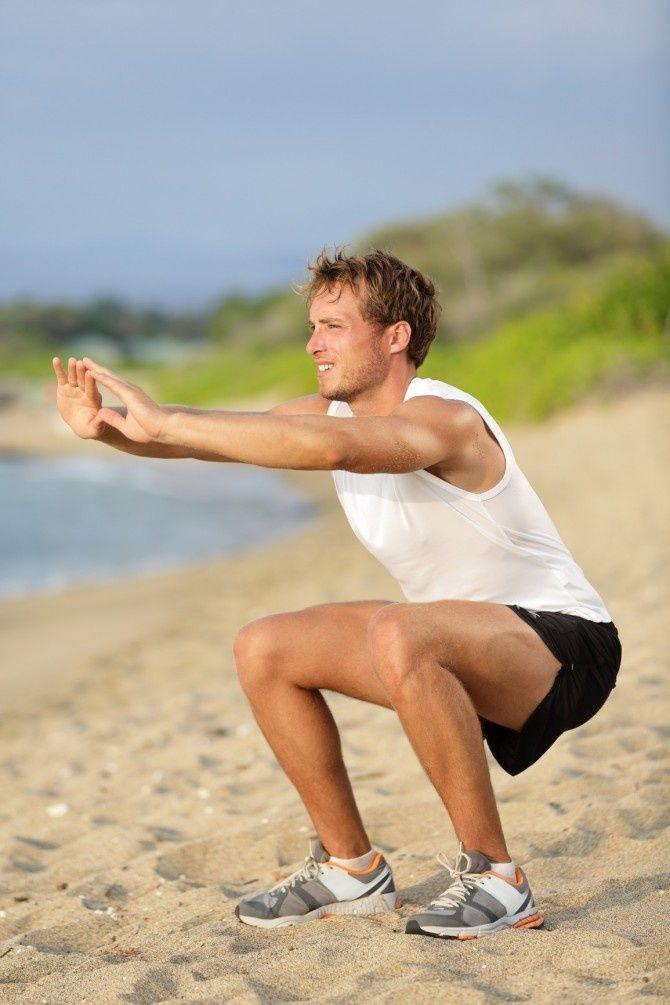 приседания помогут похудеть ногам
