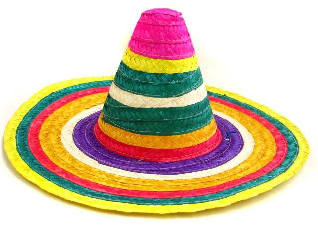 Fiesta Birthday Party Woven Straw Guests New Festive Sombrero Mexican Hat Dance