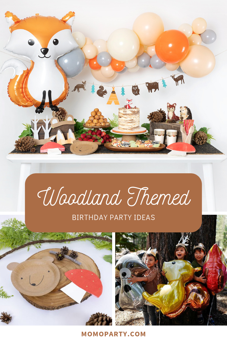 Woodland Party For First Birthday Forest Birthday Party Birthday Themes For Boys Woodland Birthday Party