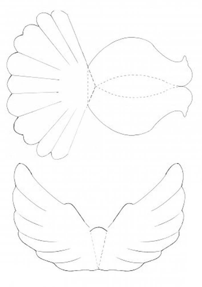 DIY paper dove with printable template Mashustic - loose leaf template