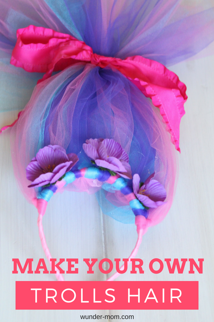Make your own trolls hair headband birthday party ideas for Crafts to make for your mom