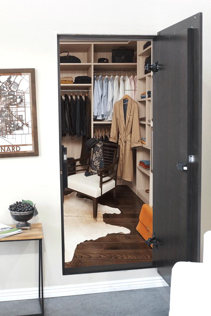 Secret Closet Mirror Door Doors Kamer Kast Huis Ideeen