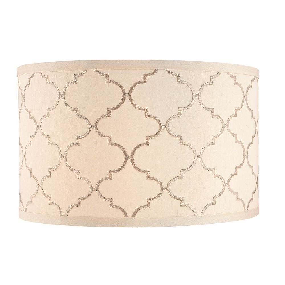 Cream Drum Lamp Shade With Marrakesh Pattern And Spider Assembly At Destination Lighting Lamp Shade Drum Lampshade Lamp