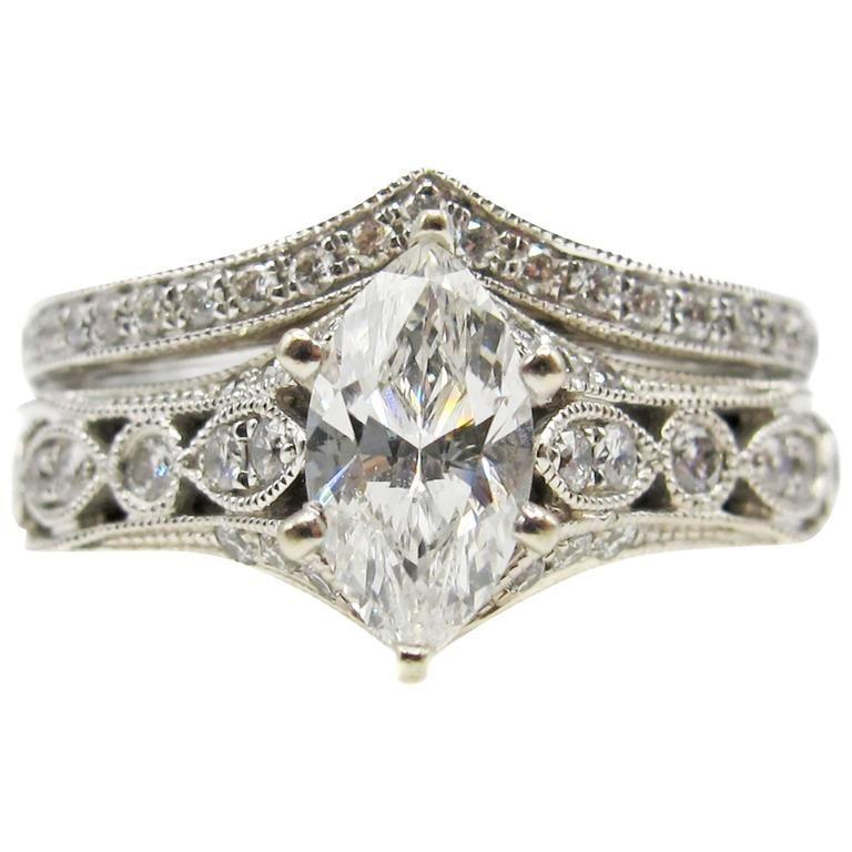 Neil Lane Bridal Diamond Ring and Band Bridal diamond