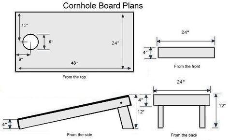 Cornhole Board Dimensions Diy Backyard Games Yard