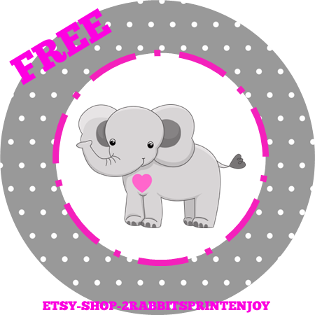 Elephant baby shower inspiration board my practical baby shower elephant baby shower inspiration board my practical baby shower guide free printable elephant pink cupcake toppers or gift tags negle Images