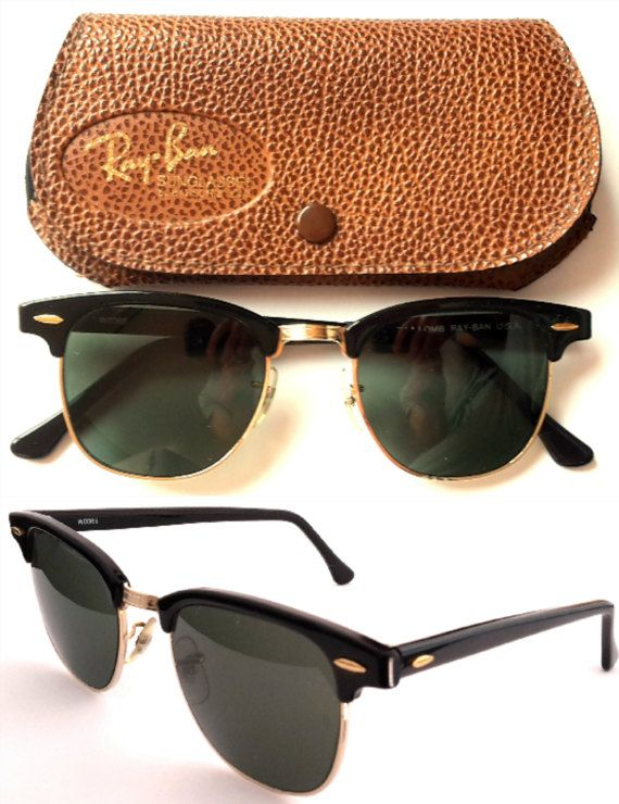 4b726b99ee Ray-Ban Bausch   Lomb USA Clubmaster WO365 VINTAGE 80s Sunglasses ...