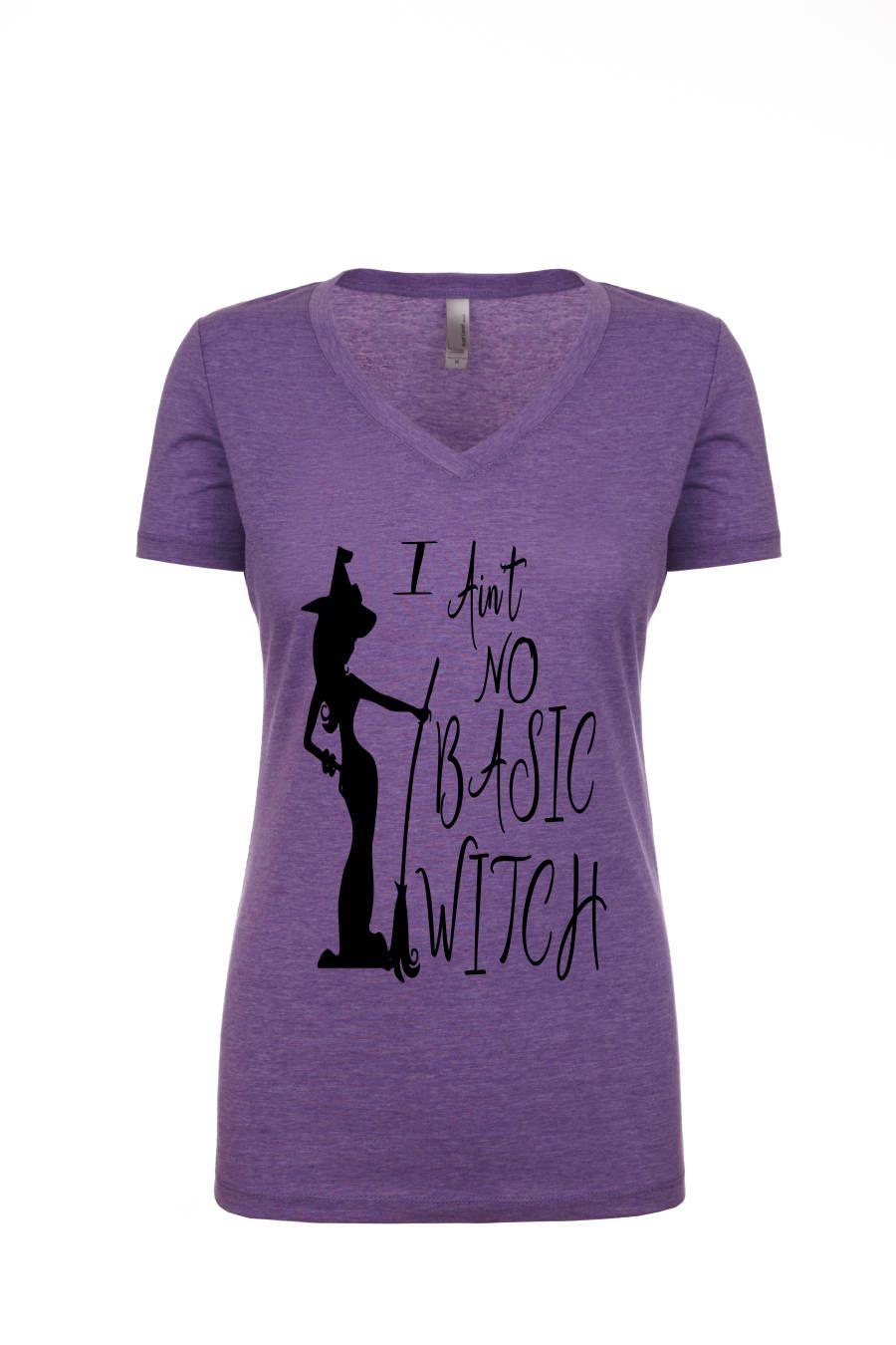 eecb22f37 Basic Witch, Halloween Shirt, Halloween Tee, not a basic witch, purple tee,  halloween graphic, halloween shirt, womens shirt, graphic tee by  jilovalcustoms ...