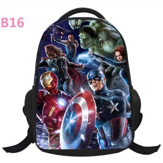 94c9f544bf14 Kids Backpacks Captain America Cartoon Backpack Boys Batman Superman SchoolBags  New Children Avengers boys Backpack freeshiping