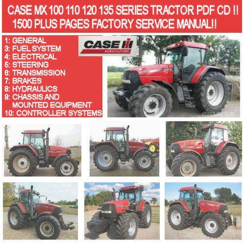 case mx 100 110 120 135 series tractor factory service manual rh pinterest co uk Case 120 Garden Tractor Case MX120