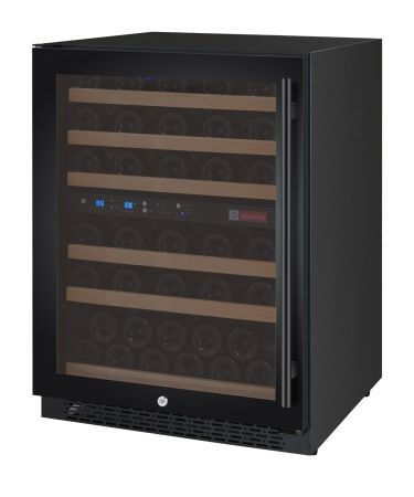 Allavino Wine Cellar Two Zone Vswr56 2bwln Flexcount Series 56 Bottle Black Door With Left Hinge Beveragefac Wine Cellar Wine Refrigerator Wine Bottle Opener