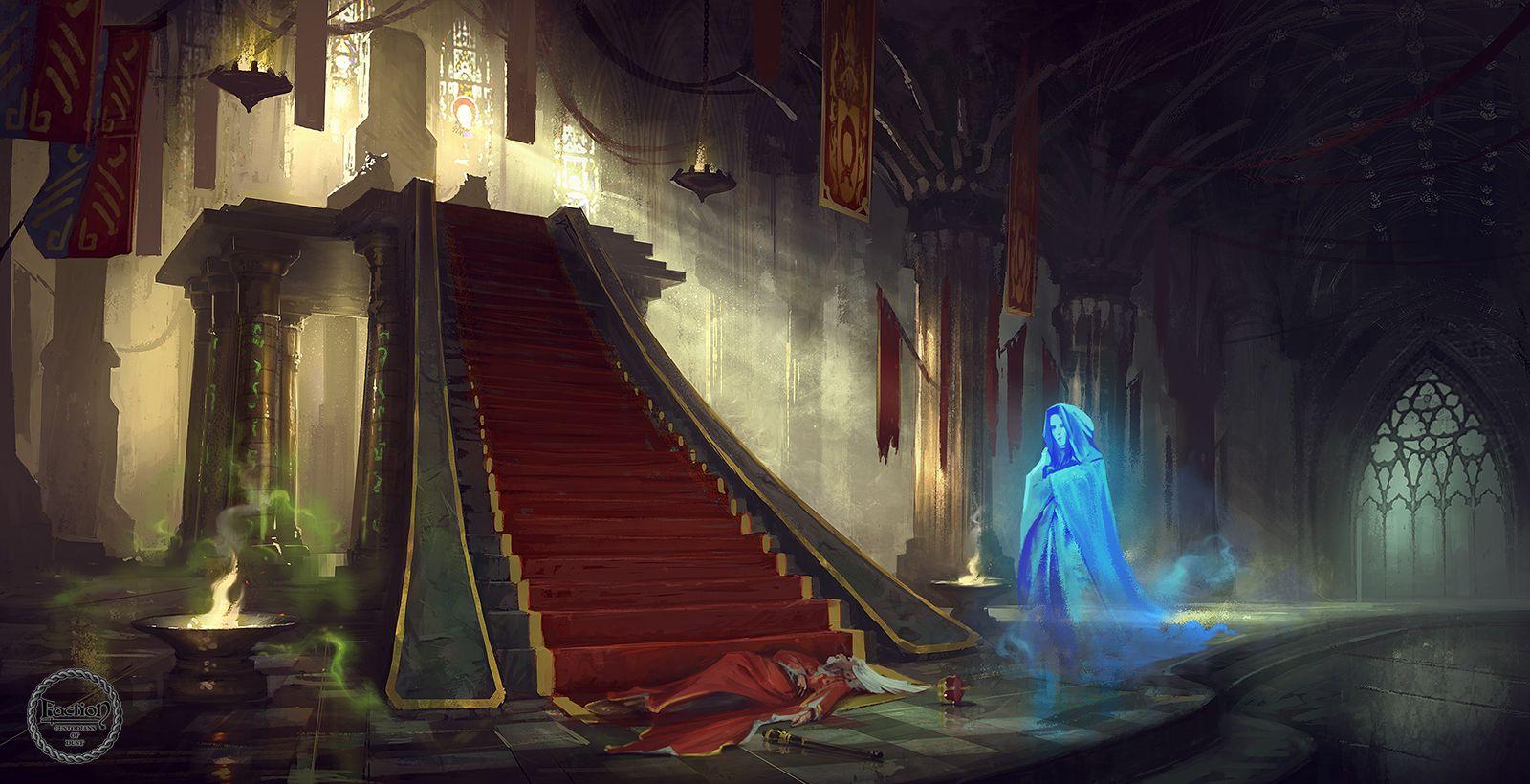 Throne Room - Google Environments Fantasy Concept Art Rooms