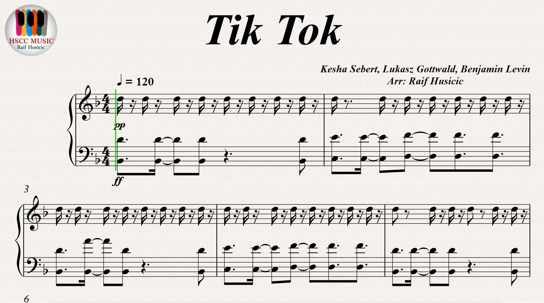 Tik Tok - Kesha, Piano https://youtu.be/Q373OWB5z3M