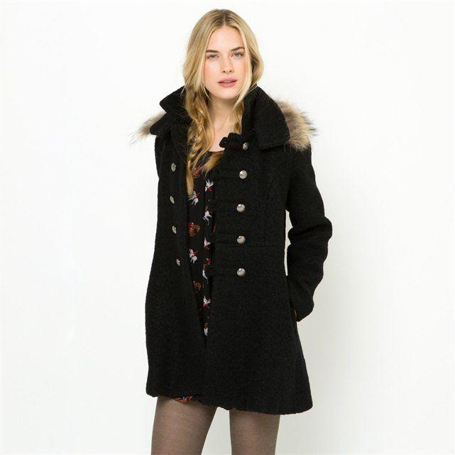 Acheter veste col fourrure femme