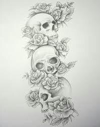 Three Skulls Skull Sleeve Tattoos Tattoo Sleeve Designs Cowboy Tattoos
