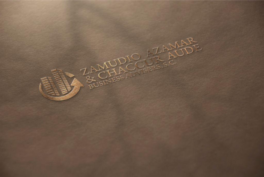 logotipo para zamudio azamar y chacur aude hecho por la agencia de publicidad  marketing diseño gráfico y paginas web en veracruz, link diseño e imagen