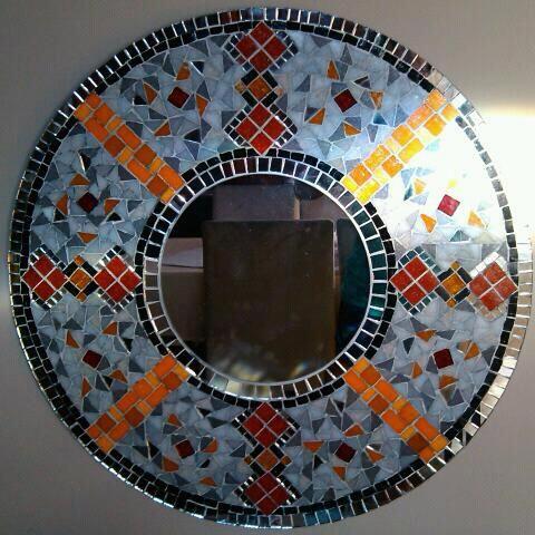 espejos y venecitas obras en mosaiquismo de mariela On diseños de espejos en mosaiquismo