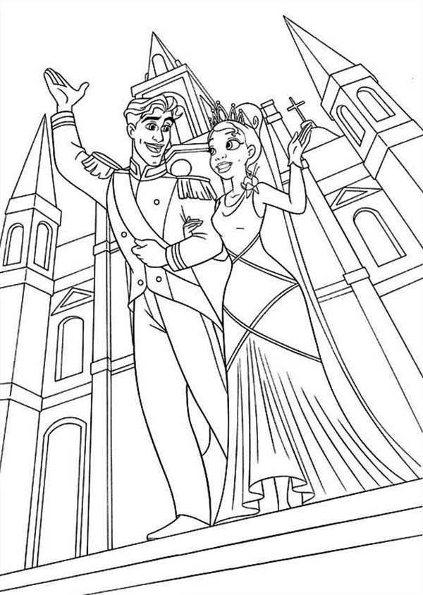 Prince Naveen And Princess Tiana Is Married In Princess And The Frog Coloring Pages Bulk C Frog Coloring Pages Princess Coloring Pages Disney Princess Colors