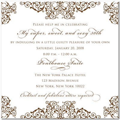 Perfect Invite Wording Possibly The Damask Not Theme