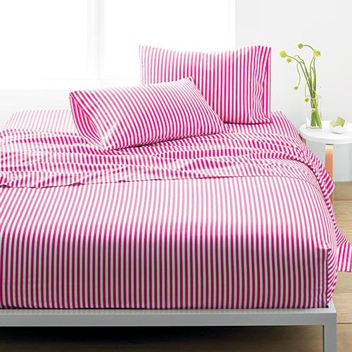 Marimekko Ajo Pink Stripe Percale Bedding Gray Sheet Sets Grey Sheets Bed