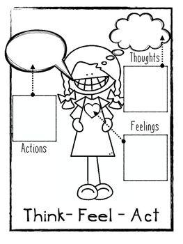 Think Feel Act Worksheets   Psychology   Pinterest   Ssw, Emotionen ...