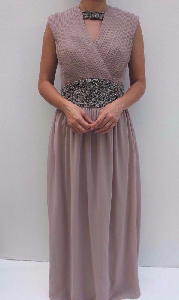 Mai Plissiert Hochzeit Mistress Verziert Kleid Lavendel Abend Little HWD9IE2
