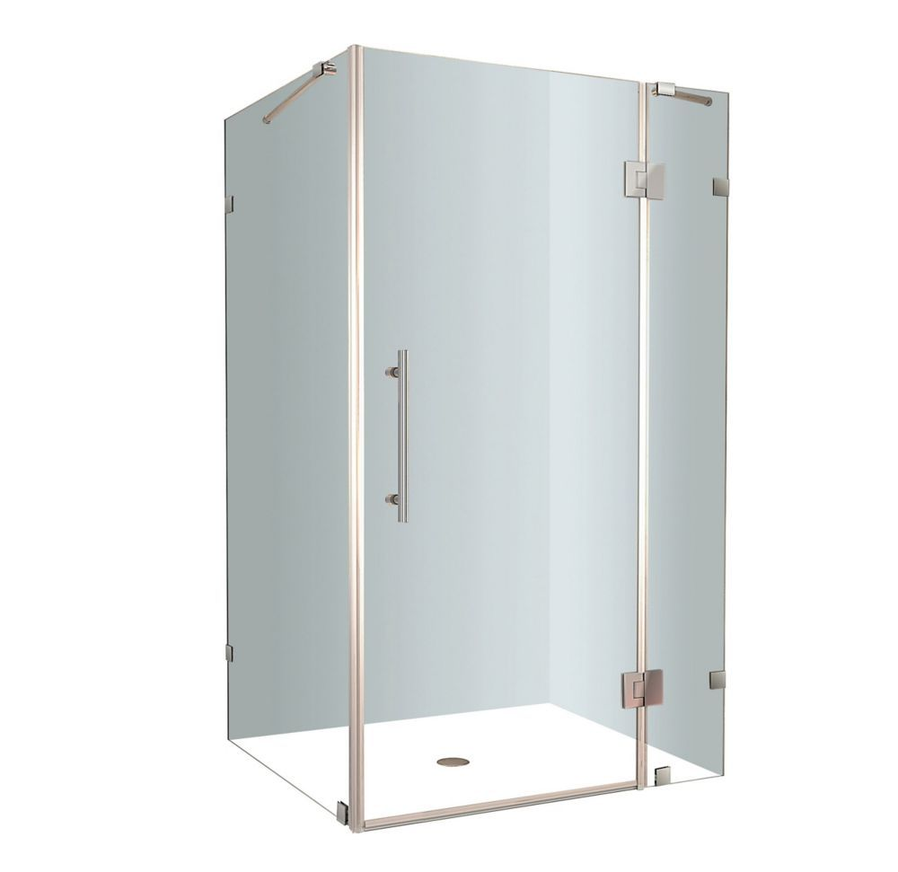 Avalux 48 Inch X 32 Inch X 72 Inch Frameless Shower Stall In