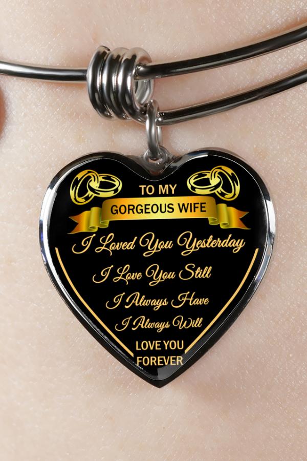 birthday and graduation gift bangle to my husband To my Love anniversary