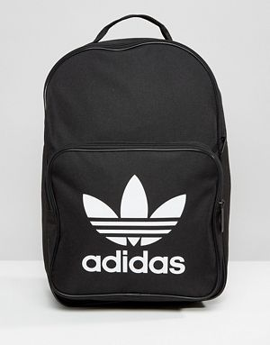 1fd2a34b4 Mochila negra con logo del trifolio de adidas Originals | backpacks ...