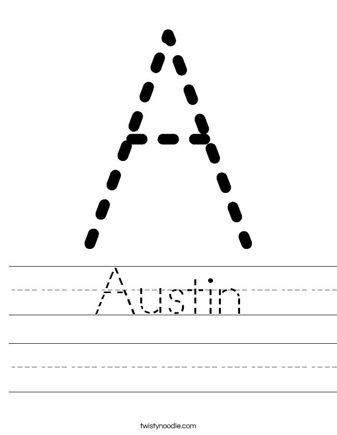 Austin Worksheet Twisty Noodle Name Tracing Worksheets Tracing Worksheets Preschool Tracing Worksheets