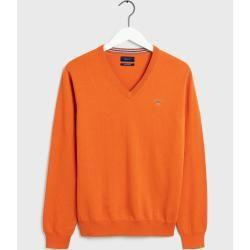 Photo of Gant Pullover mit V-Ausschnitt (orange) Gant