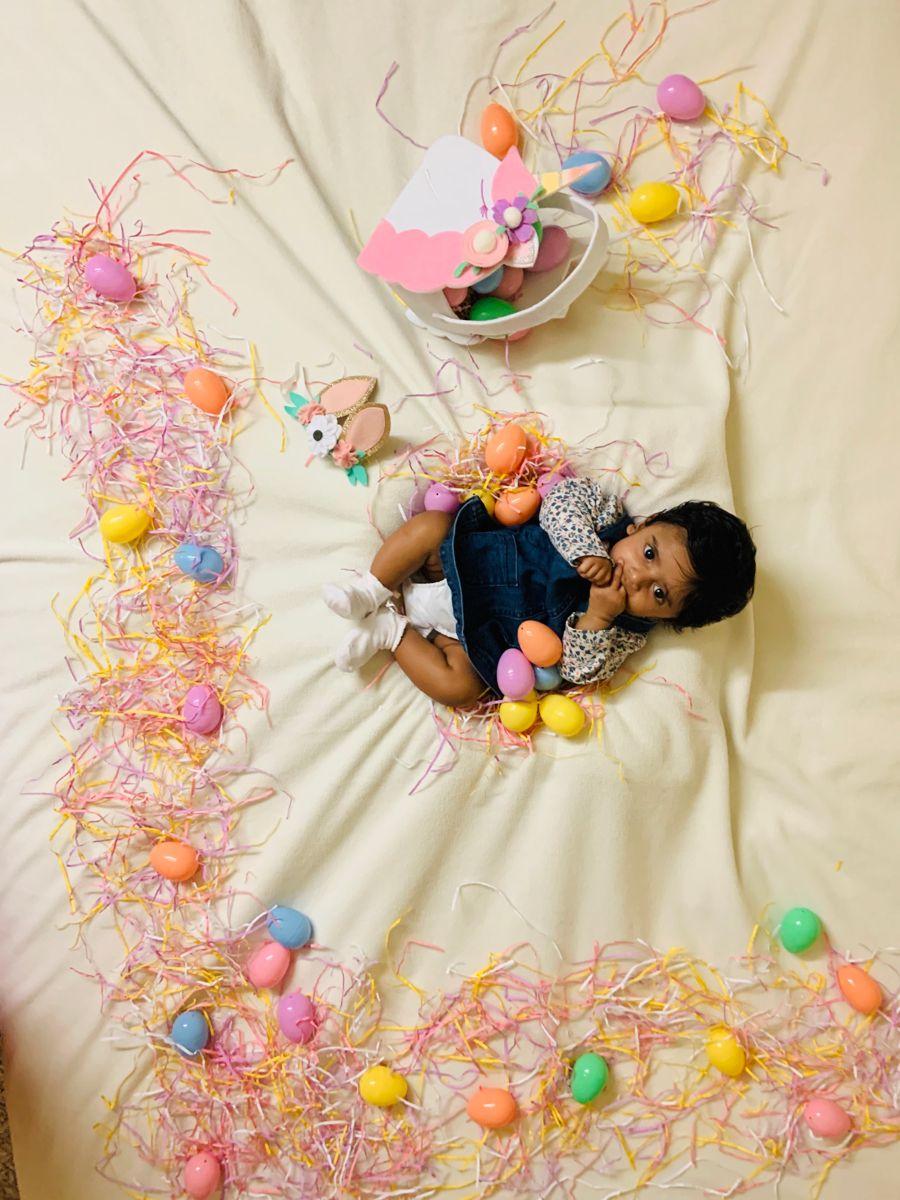 Baby Photoshoot | Easter bunny | Ishta first Easte