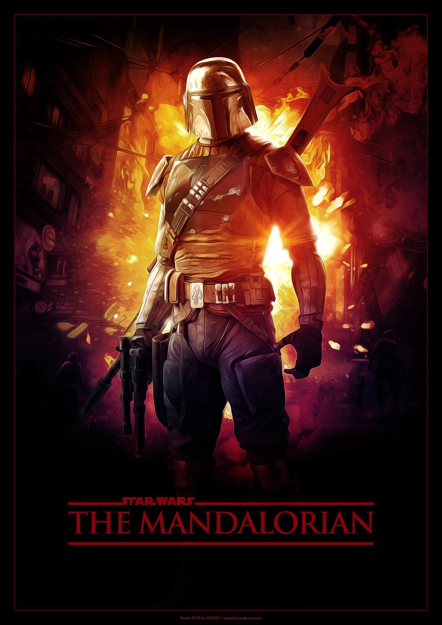 The Mandalorian starwars Art by