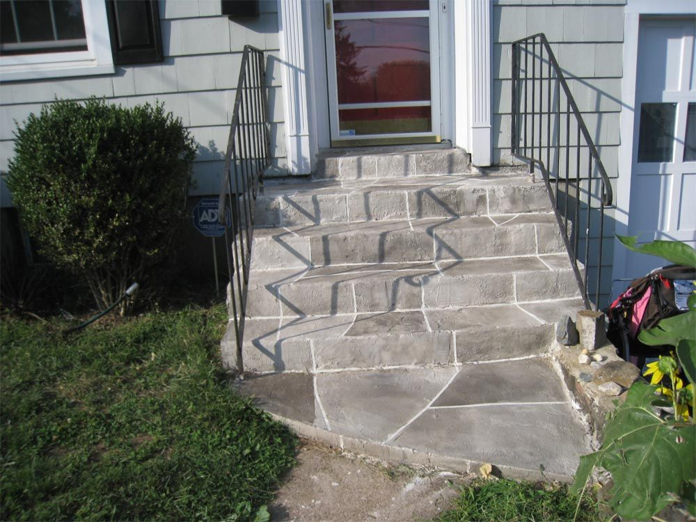 Front+Porch+Cement+Stairs | Concrete Front Steps In Hamden Ct 0651 Aging
