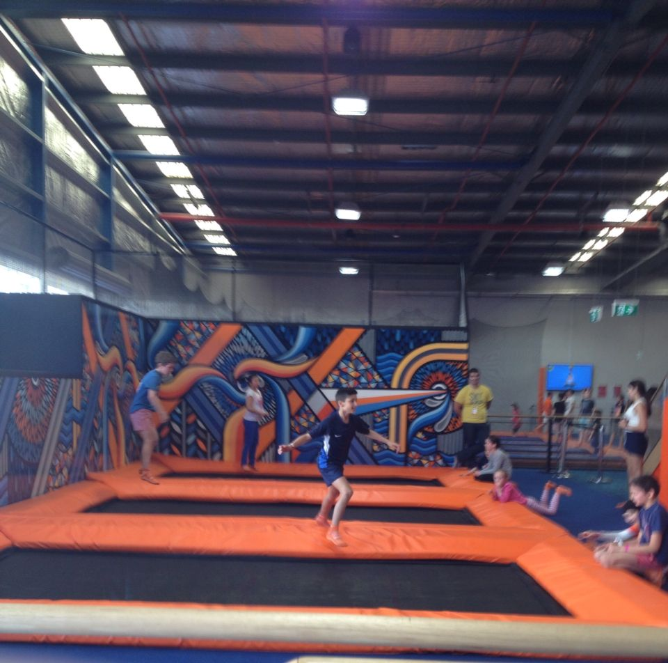 The front flip and back flip zone!!!!! Basketball court