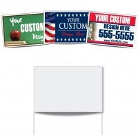 16x24 Polybag Sign Poly Bag Yard Signs Are Lightweight And Very Affordable In High Quantities Bag Signs Come With Custom Yard Signs Yard Signs Realtor Signs